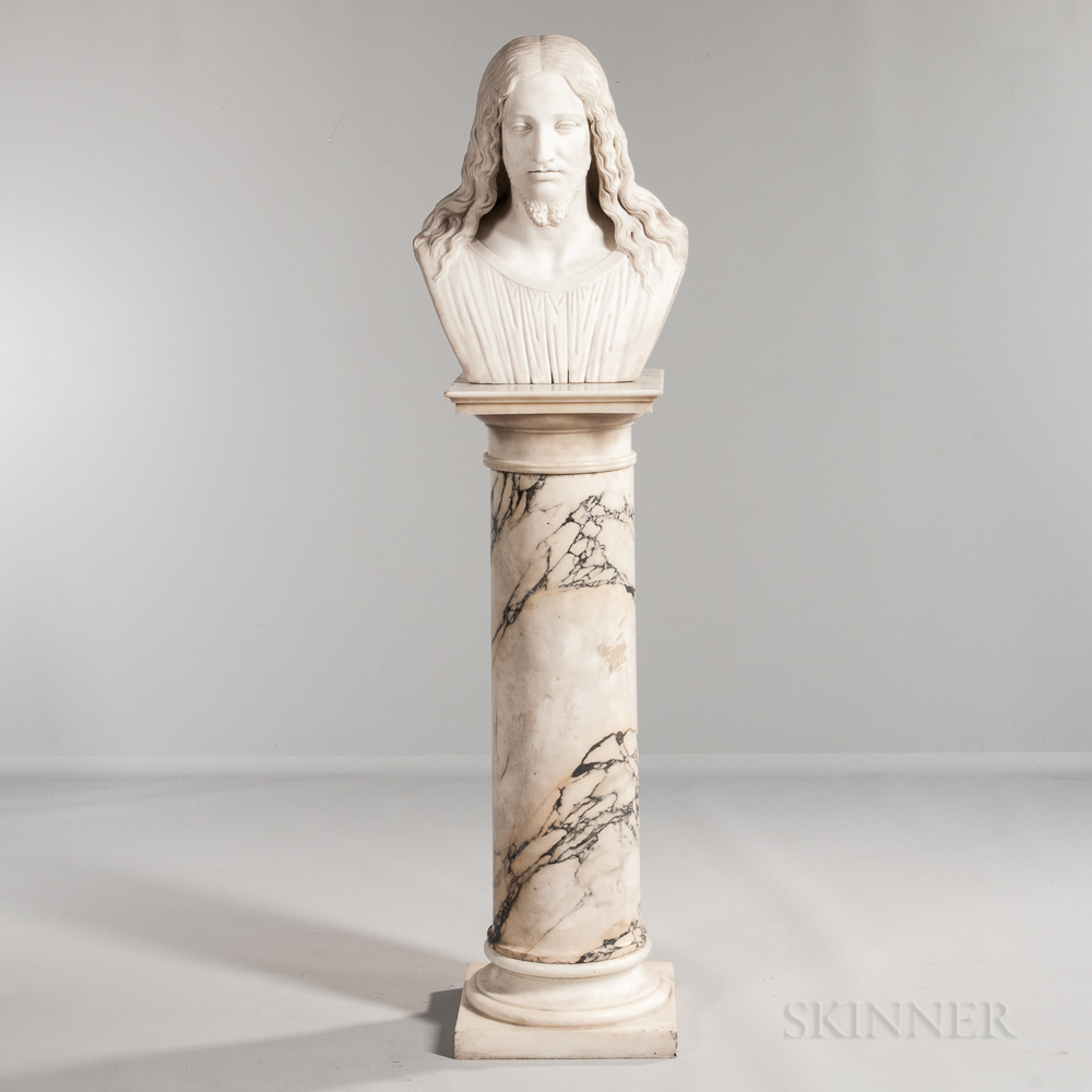 White Marble Bust of Christ