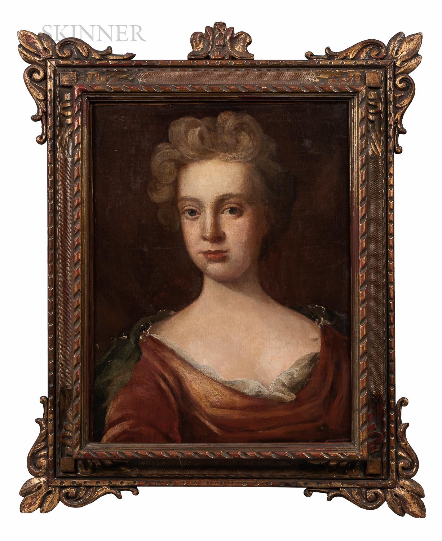 School of Godfrey Kneller (British, 1646-1723)      Portrait of a Lady, Possibly Lady Godolphin