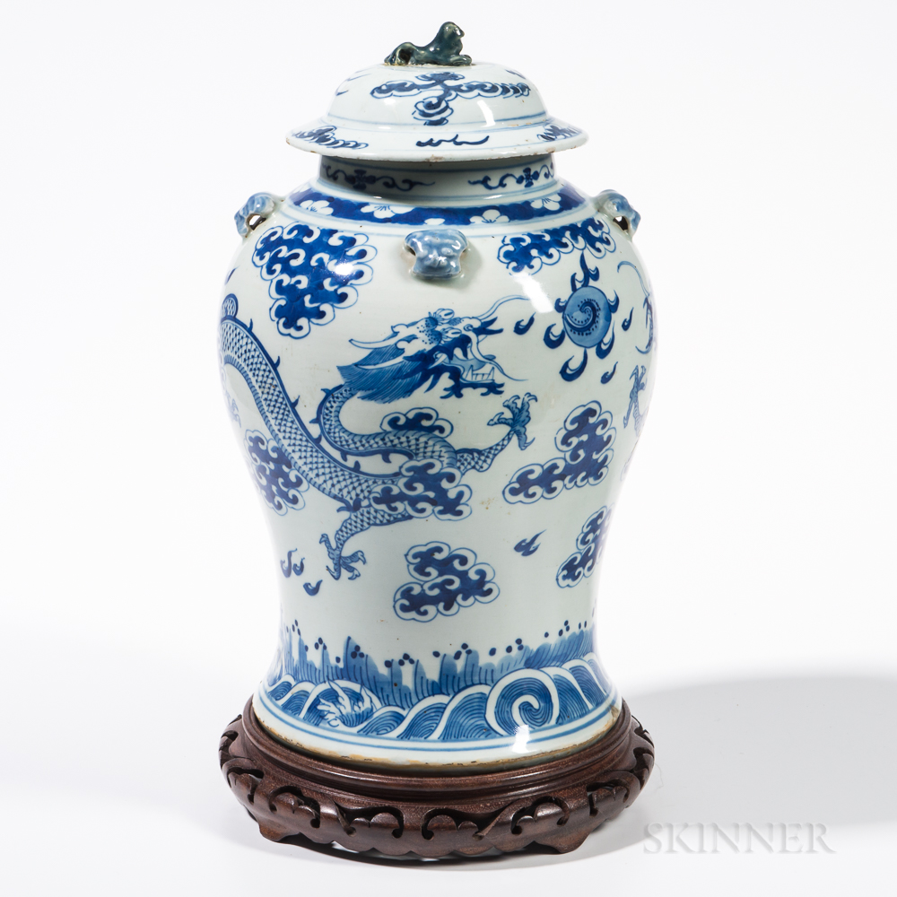 Blue and White Dragon Jar and Cover
