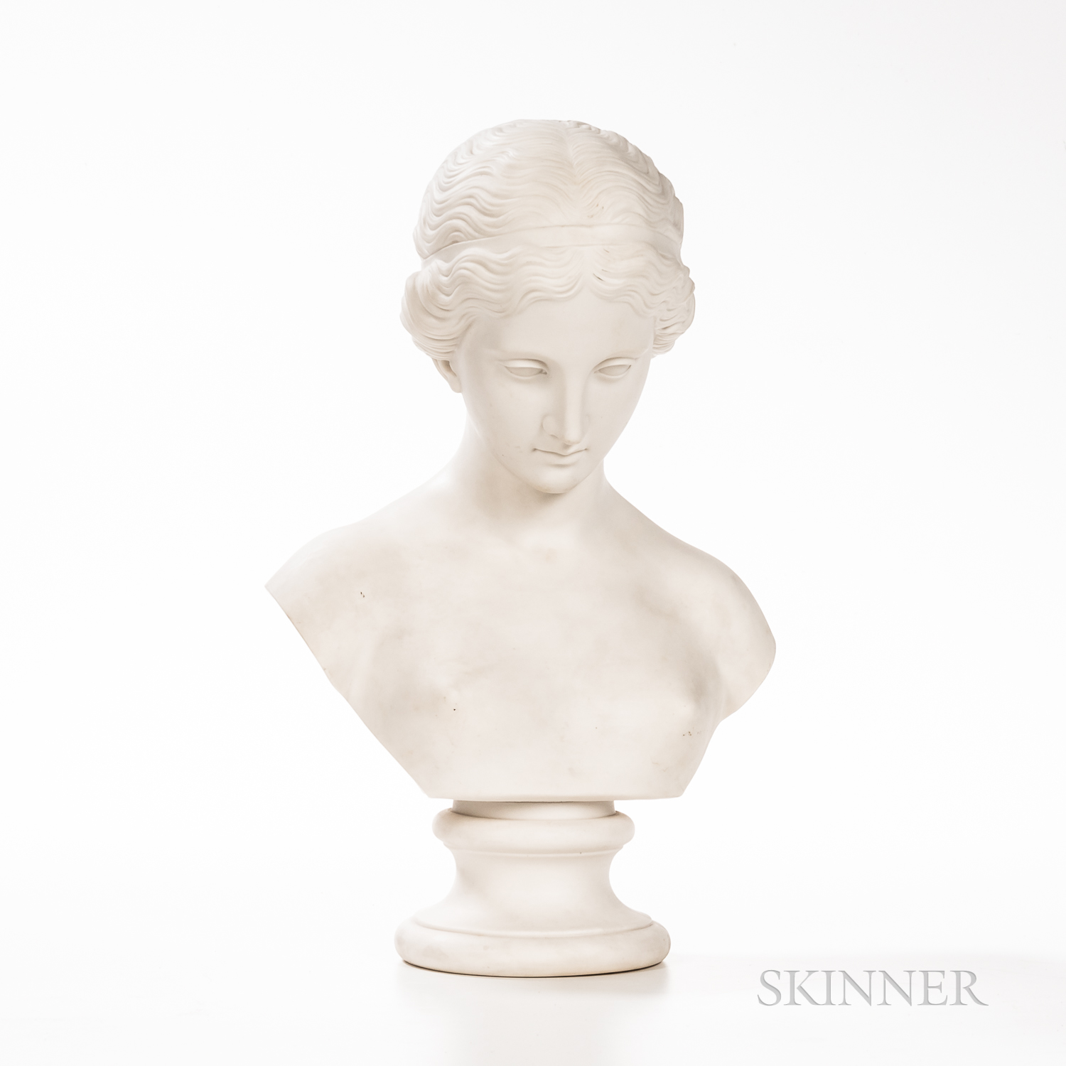 Parian Bust of a Classical Maiden