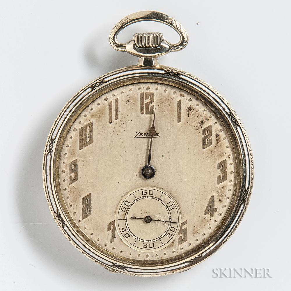 Zenith 18kt Gold Open-face Watch