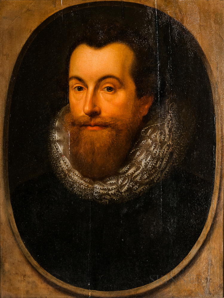 Dutch School, 17th Century      Portrait of a Man in a Lace Ruff Collar