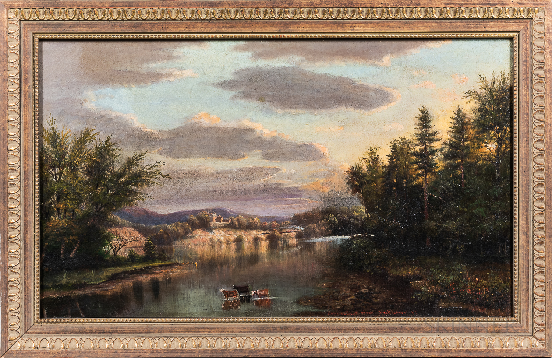 American School, Late 19th Century    Connecticut River View, Brattleboro, Vermont