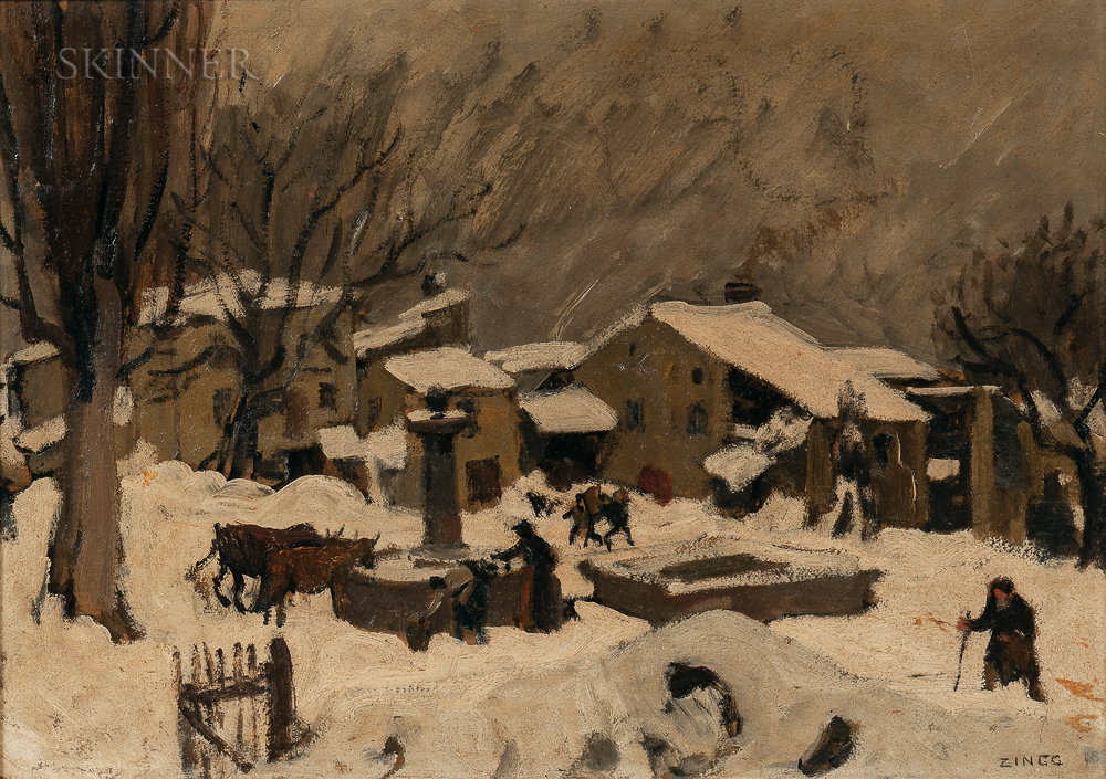 Jules-Émile Zingg (French, 1882-1942)      Winter Village