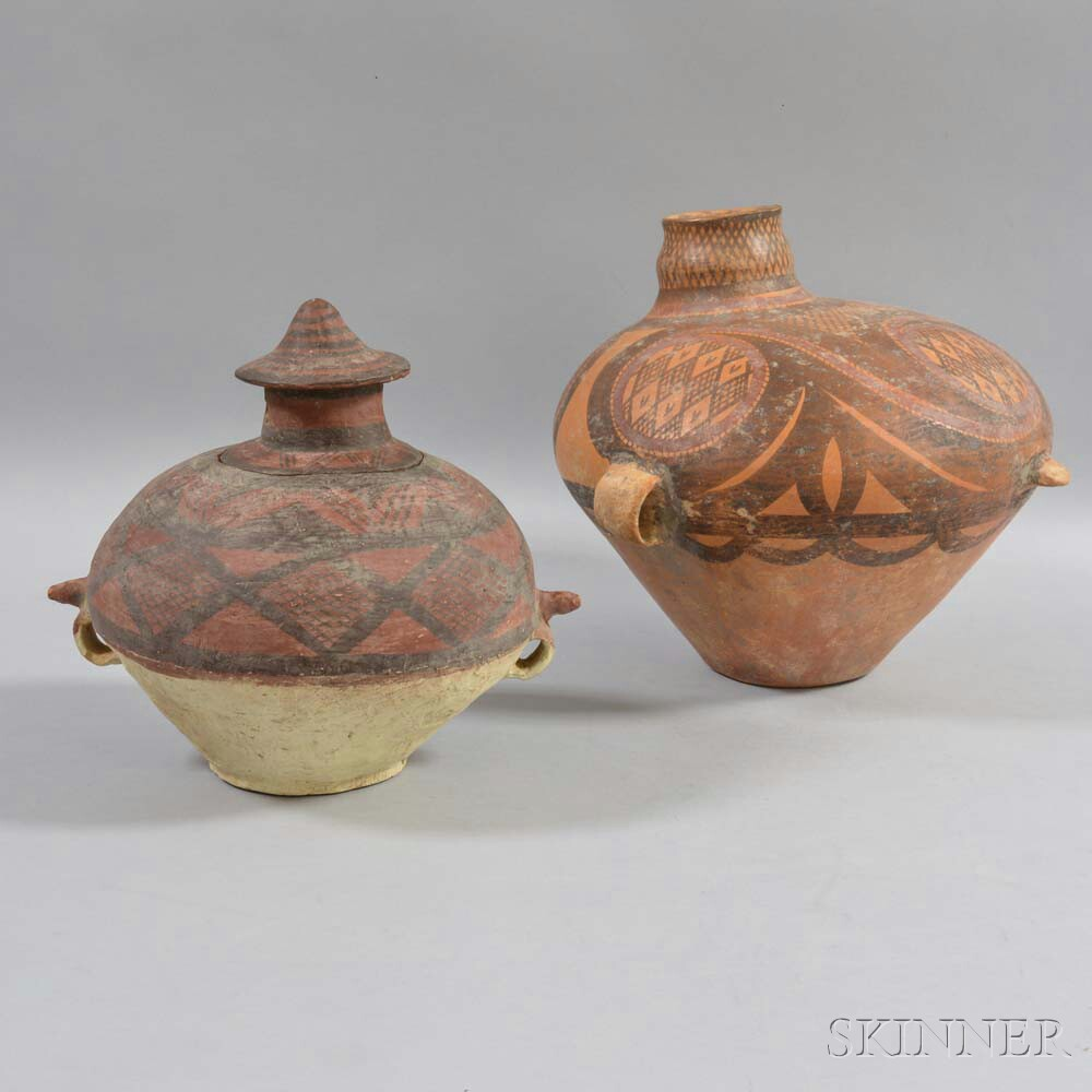 Two Neolithic-style Painted Pottery Jars