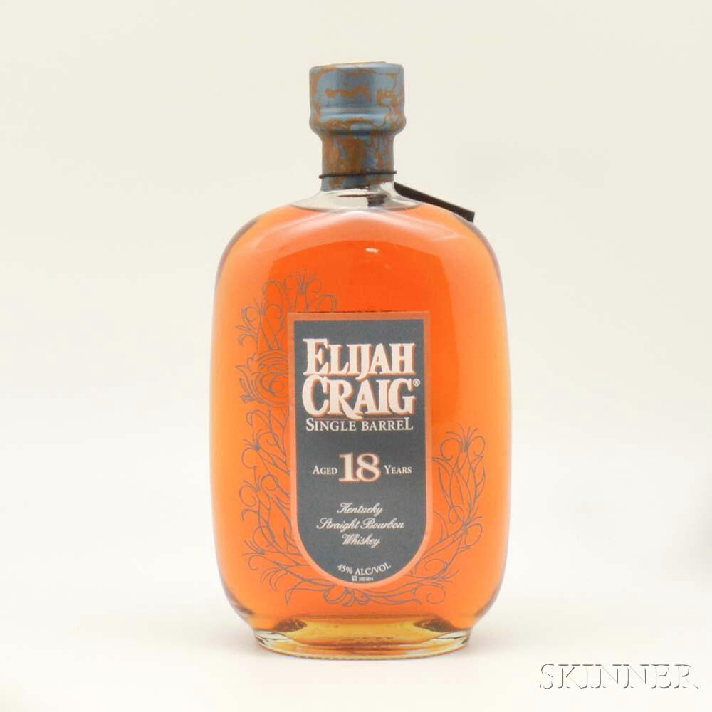 Elijah Craig Single Barrel 18 Years Old 1997, 1 750ml bottle