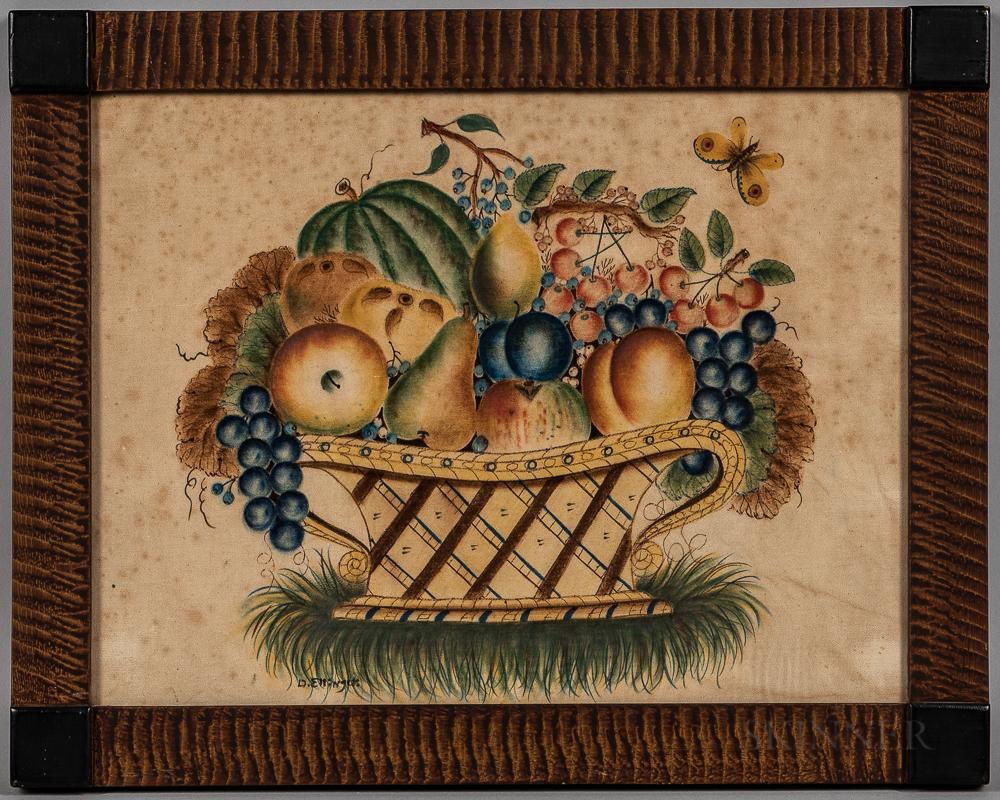 Framed David Ellinger Watercolor Theorem