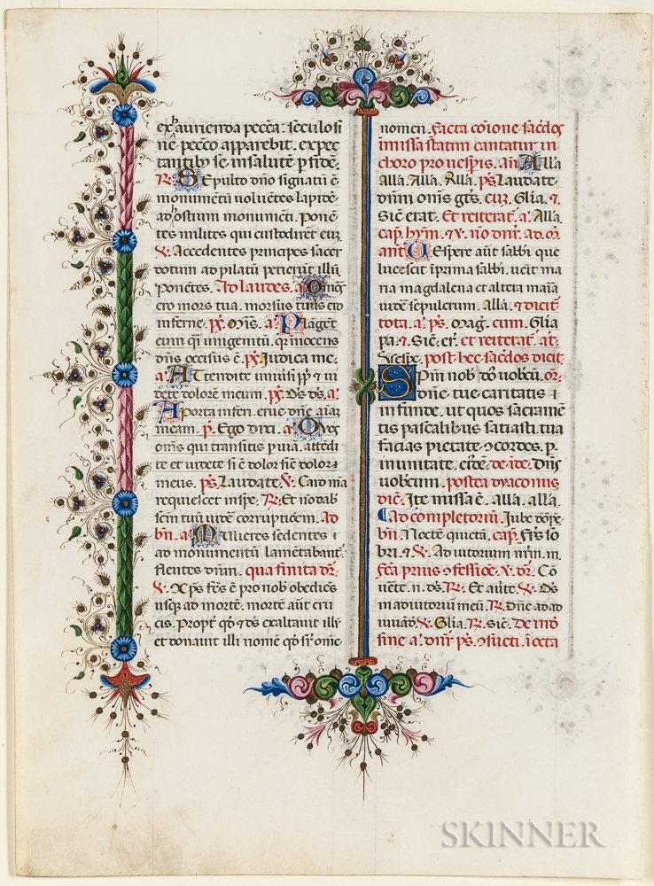 Manuscript and Nuremberg Chronicle Leaves, Four.