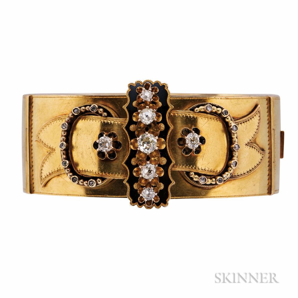 Antique Gold and Diamond Bracelet