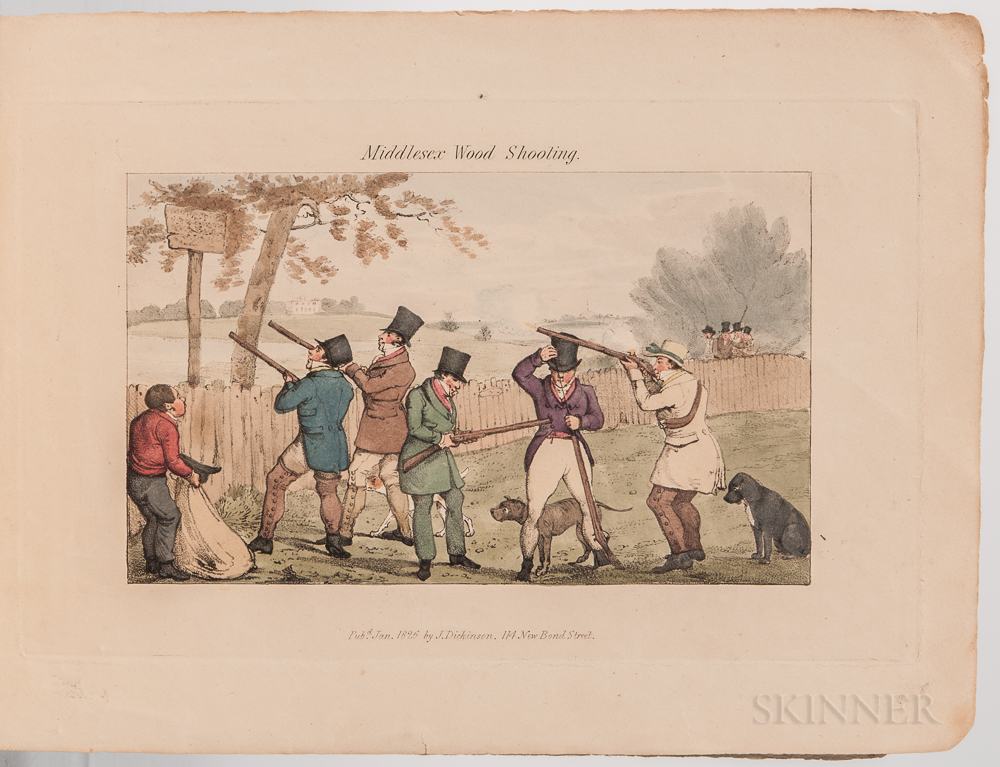Alken, Henry (1785-1851) Comparative Field Sports, Shooting, in Middlesex and Elsewhere.