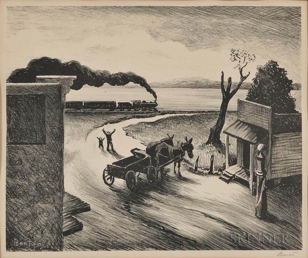 Thomas Hart Benton (American, 1889-1975)      Edge of Town