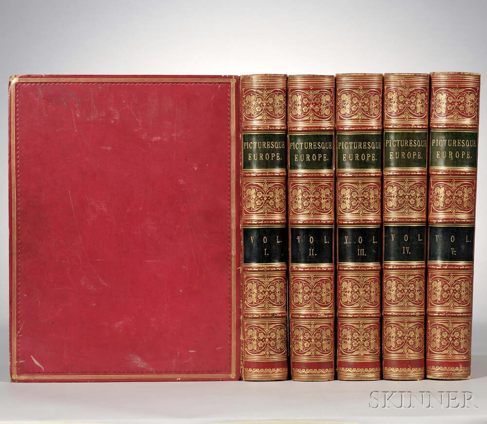 Decorative Bindings, Sets: Taylor, Bayard (1825-1878) Picturesque Europe.