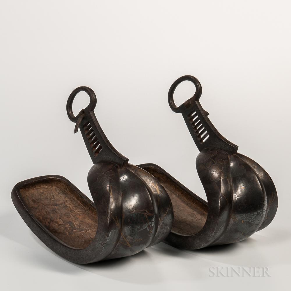 Pair of Iron Samurai Stirrups