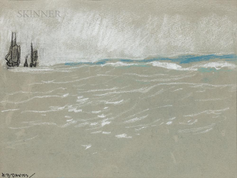 Arthur Bowen Davies (American, 1863-1928)      Ships at Sea