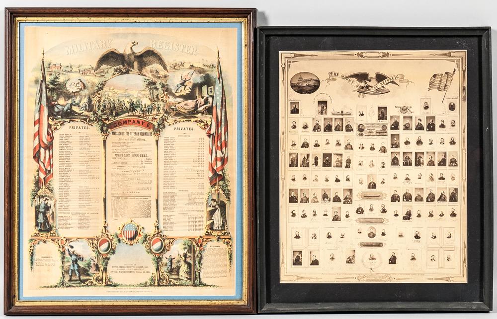 Two Civil War Framed Items
