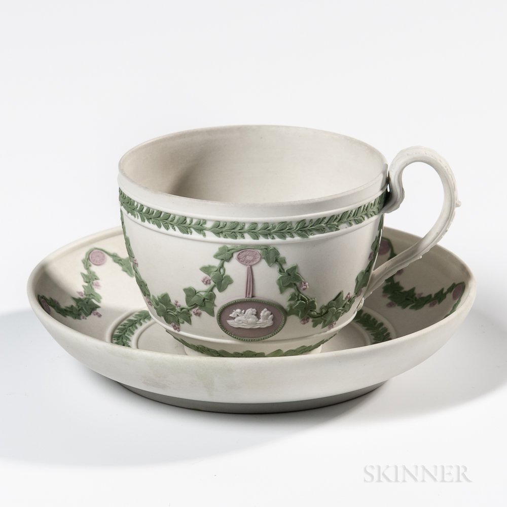 Wedgwood Tricolor Jasper Cup and Saucer