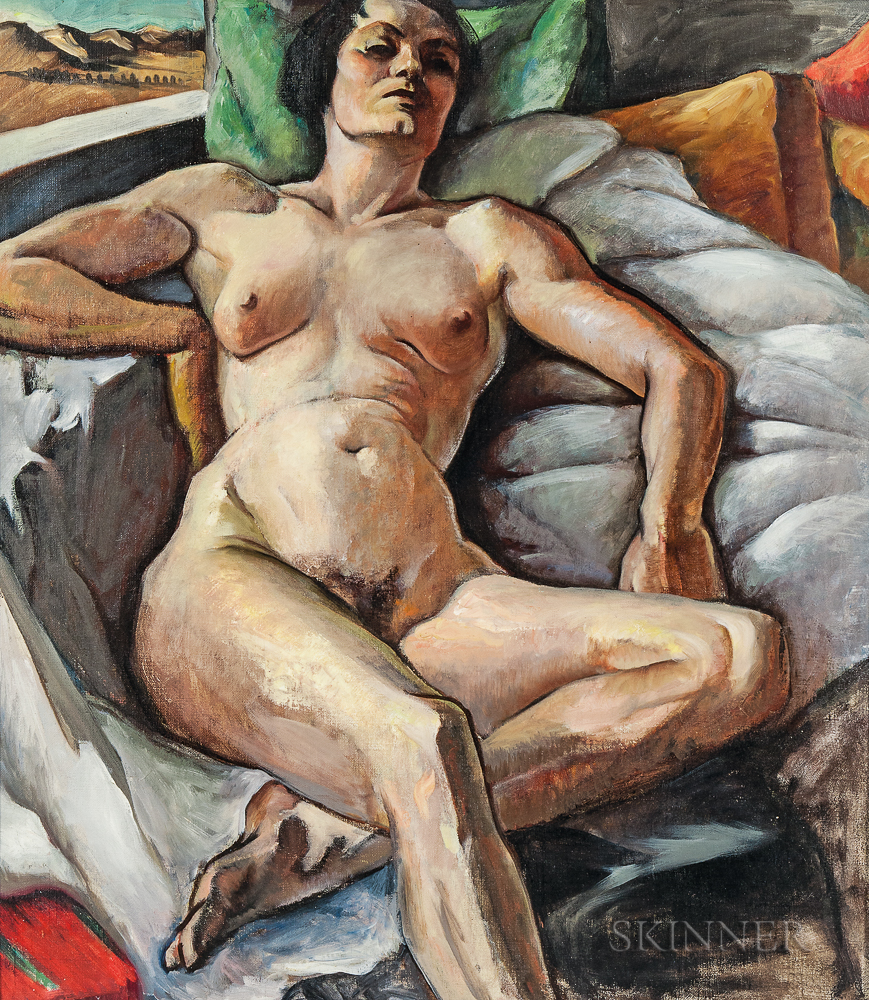 Virginia True (American, 1900-1989)      Reclining Nude
