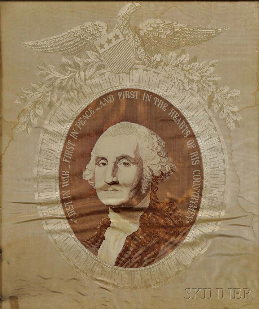 Washington, George (1732-1799) Woven Jacquard Silk Portrait.