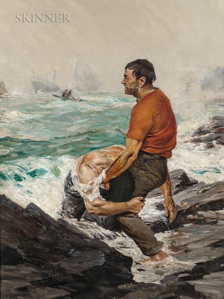 Anton Otto Fischer (American, 1882-1962)      The Rescue