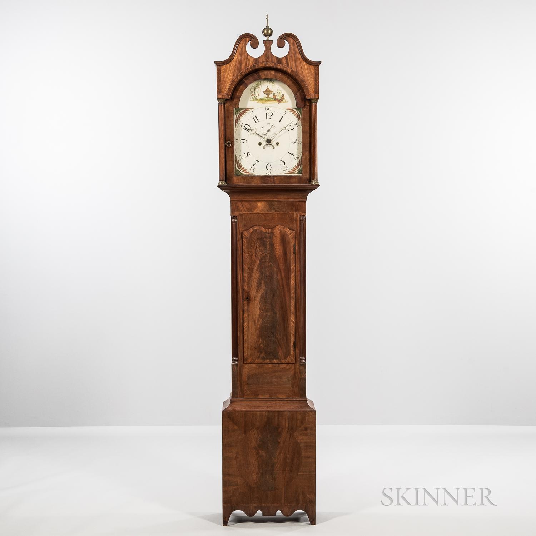 Mid-Atlantic Mahogany Veneered Tall Clock