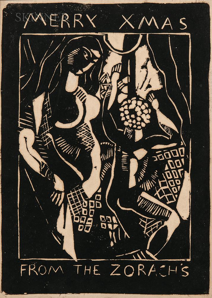 Marguerite Thompson Zorach (American, 1887-1968)      Merry Xmas from the Zorachs