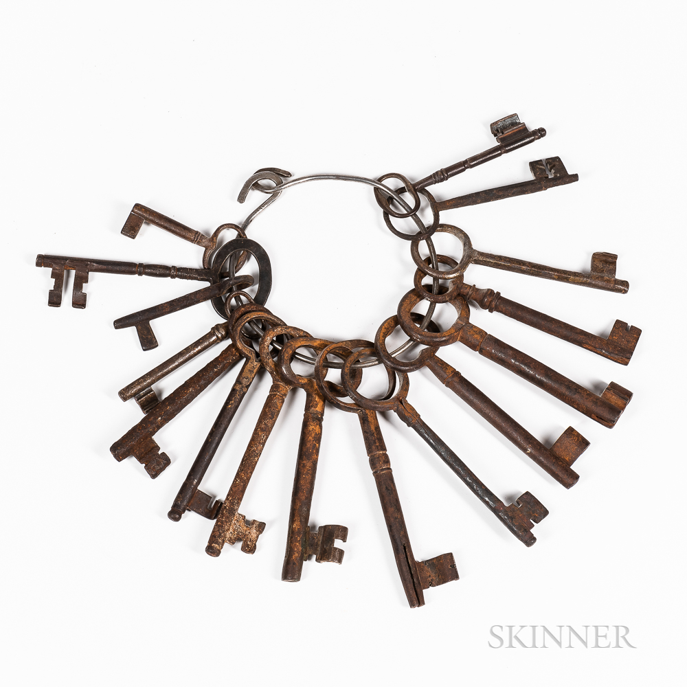 Key Ring with Sixteen Early Keys