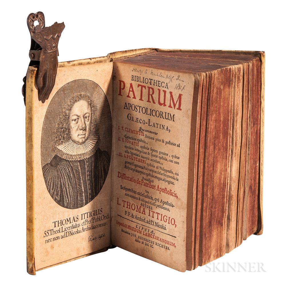 Ittig, Thomas (1643-1710) Bibliotheca Patrum Apostolicorum Graeco-Latina.