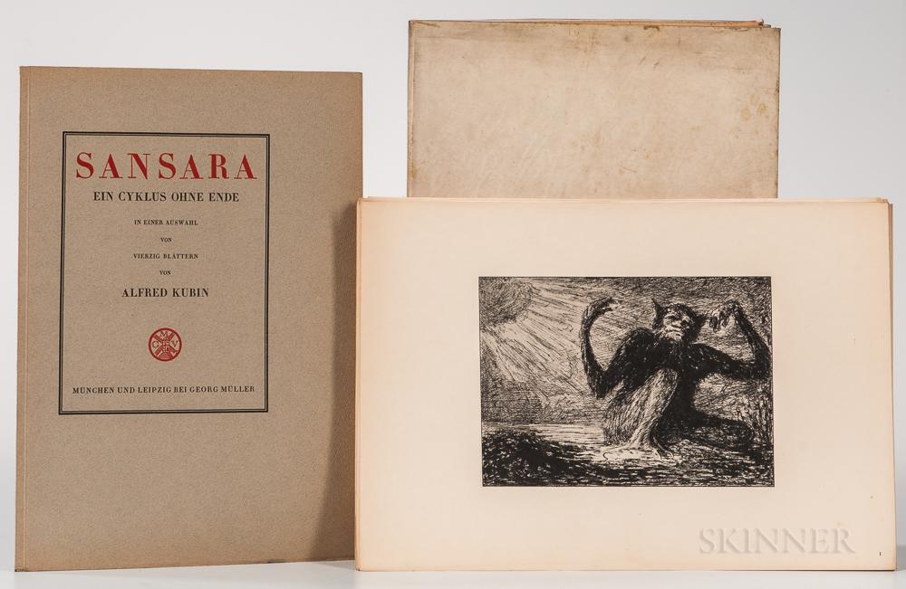 Kubin, Alfred (1877-1959) Sansara Ein Cyklus Ohne Ende in Einer Auswahl von Vierzig Blattern.