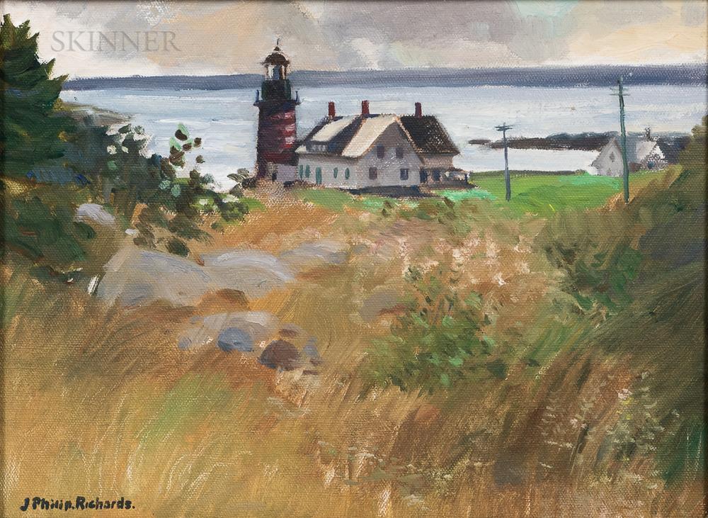J. Philip Richards (American, 1906-1991)      Quoddy Lighthouse, Lubec