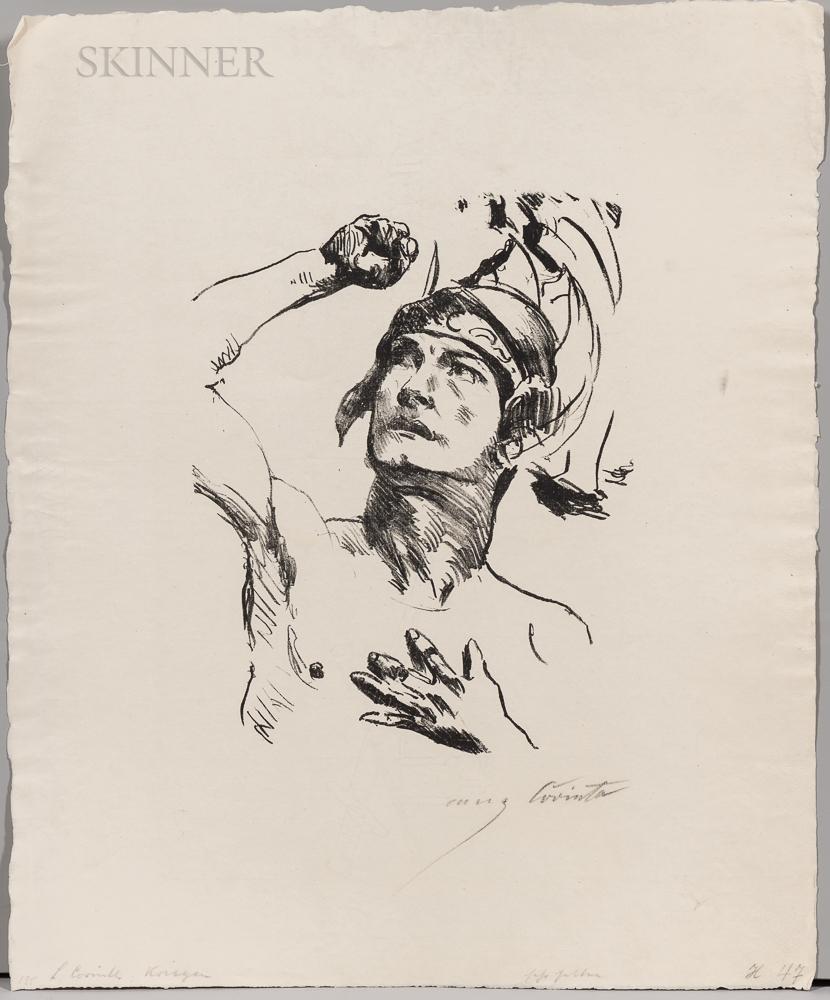 Lovis Corinth (German, 1858-1925)      Two Prints: Warrior