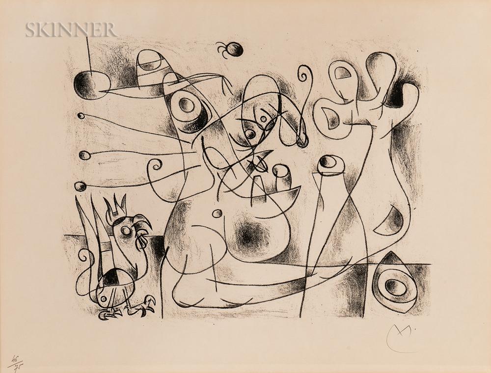 Joan Miró (Spanish, 1893-1983)      Naissance d'Ubu