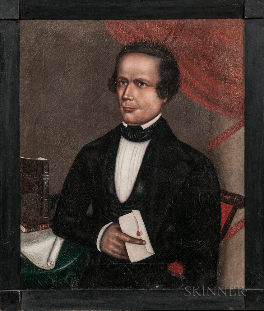 Horace Bundy (Vermont/New Hampshire, 1814-1883)      Portrait of Thomas Lake