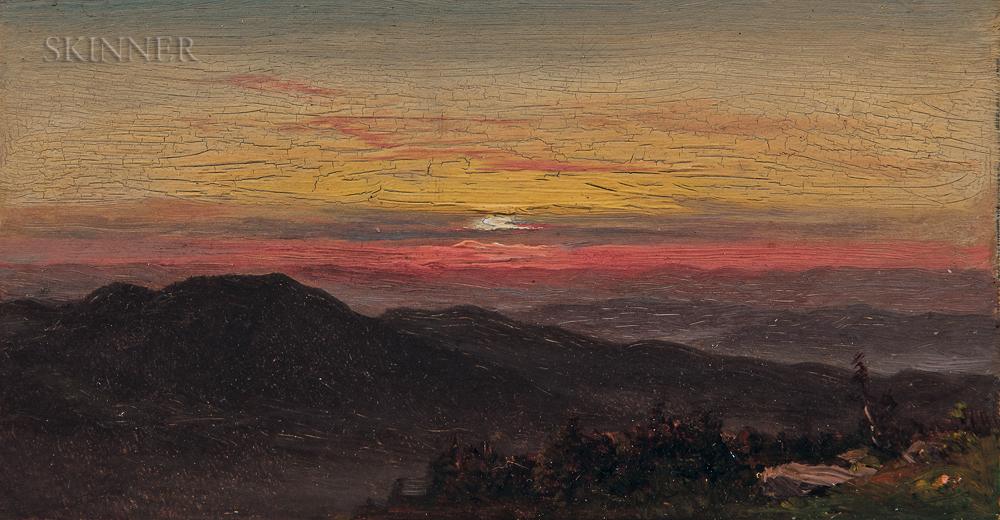 Hudson River School, 19th Century      Sunset Vista