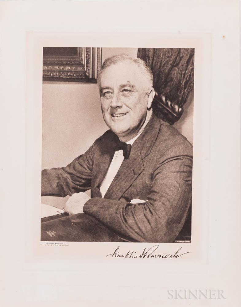 Roosevelt, Franklin Delano (1882-1945) Signed Photogravure.