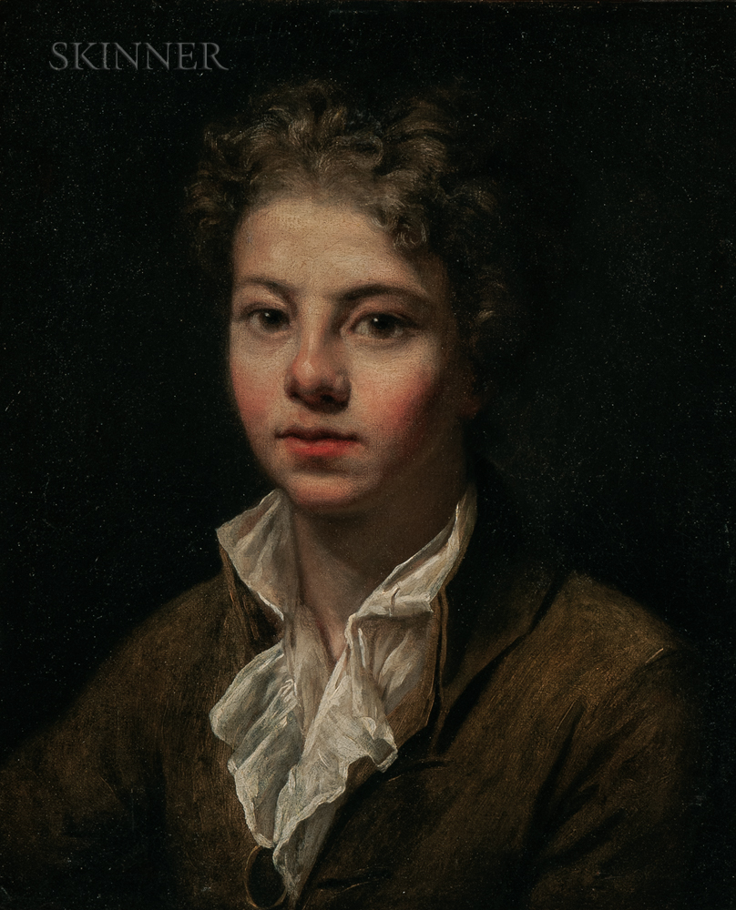 Jean-Baptiste Greuze (French, 1725-1805)      Portrait of a Young Man