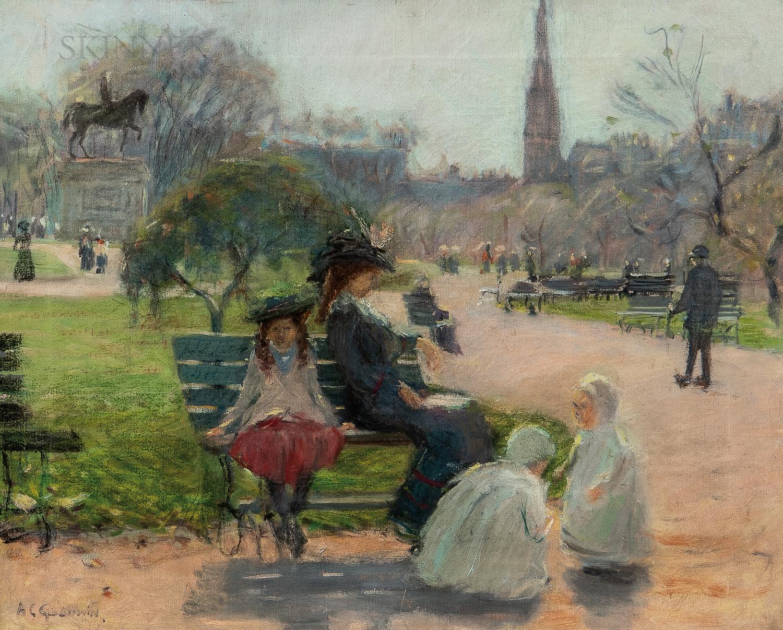 Arthur Clifton Goodwin (American, 1866-1929)      In Boston Public Gardens