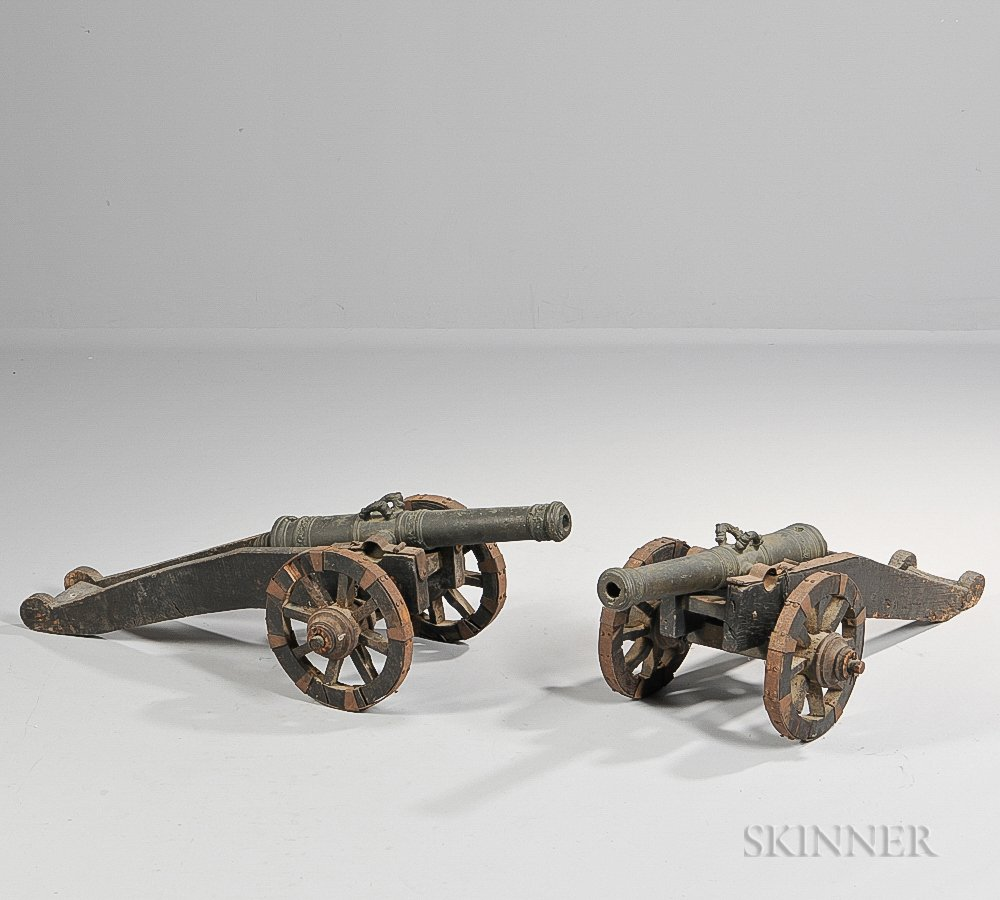 Pair of Miniature Bronze Signal Guns