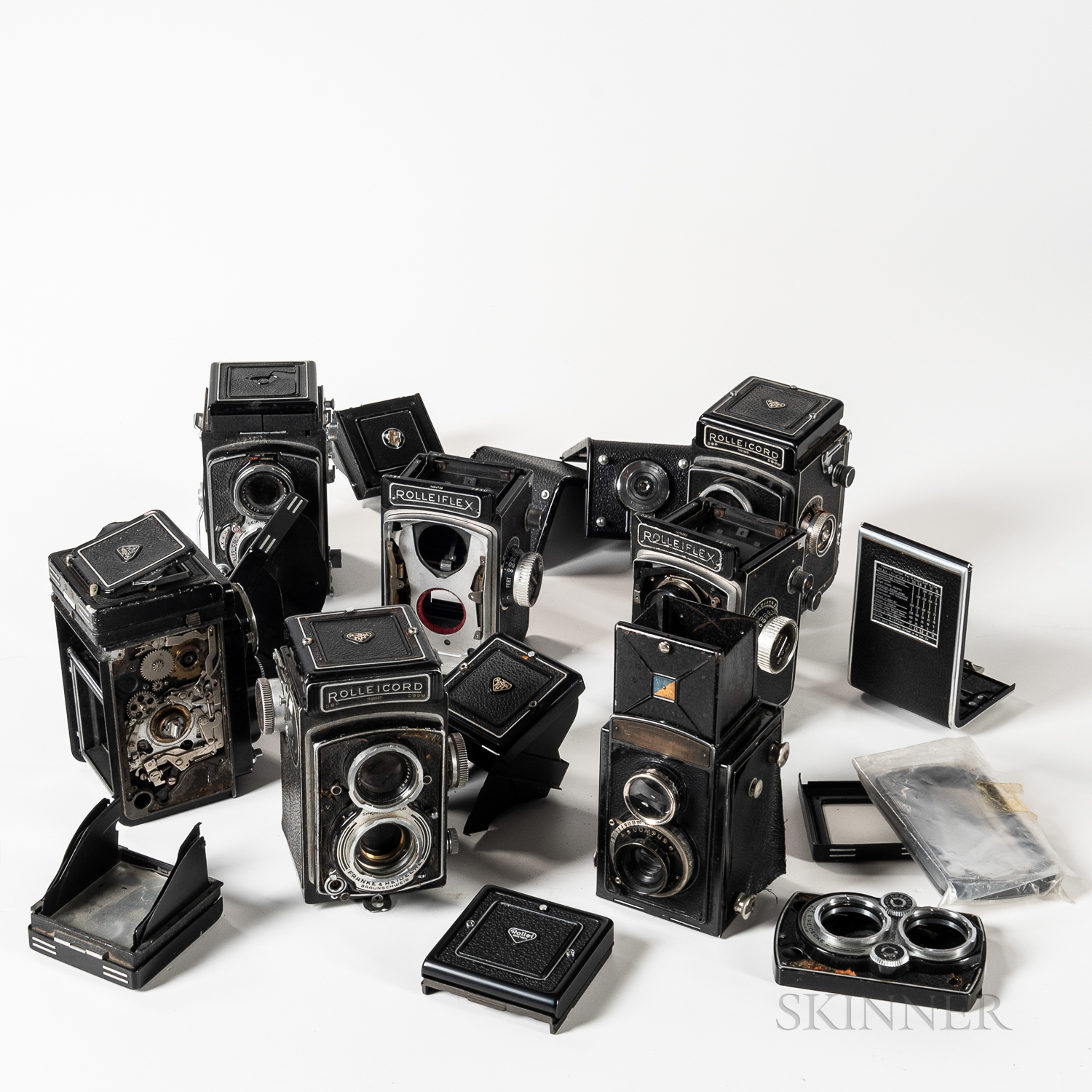 Collection of Twin-lens Cameras and Body Parts