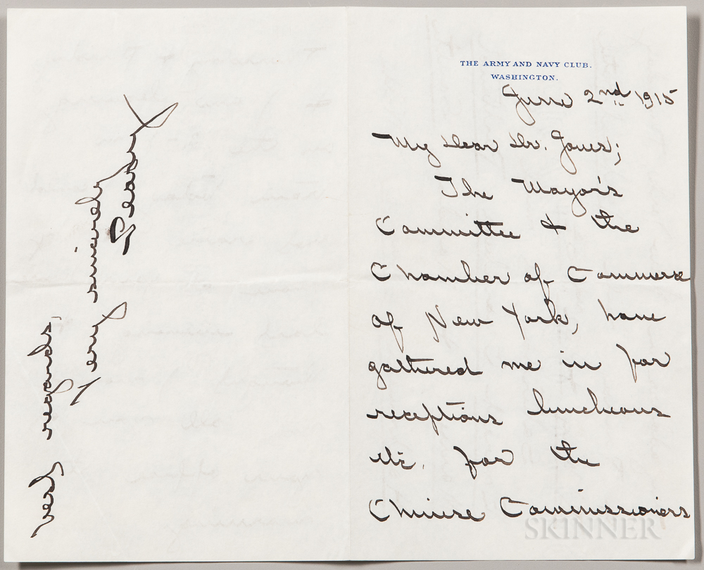 Peary, Rear Admiral Robert Edwin (1856-1920) Autograph Letter Signed, 2 June 1915.