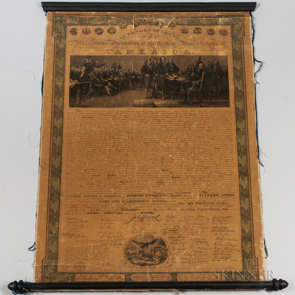 Declaration of Independence   Facsimile After Benjamin Owen Tyler.
