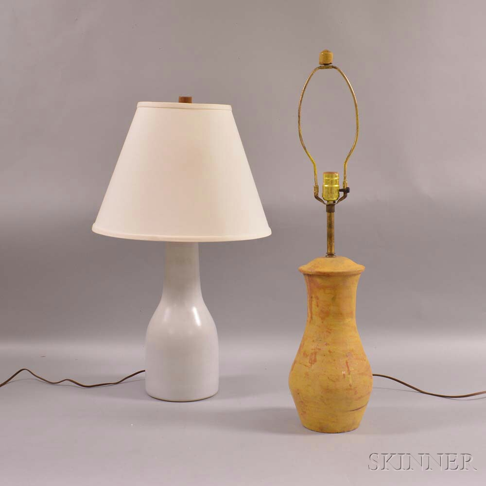 Jane and Gordon Martz Marshall Studios Lamp and a Frey Lamp