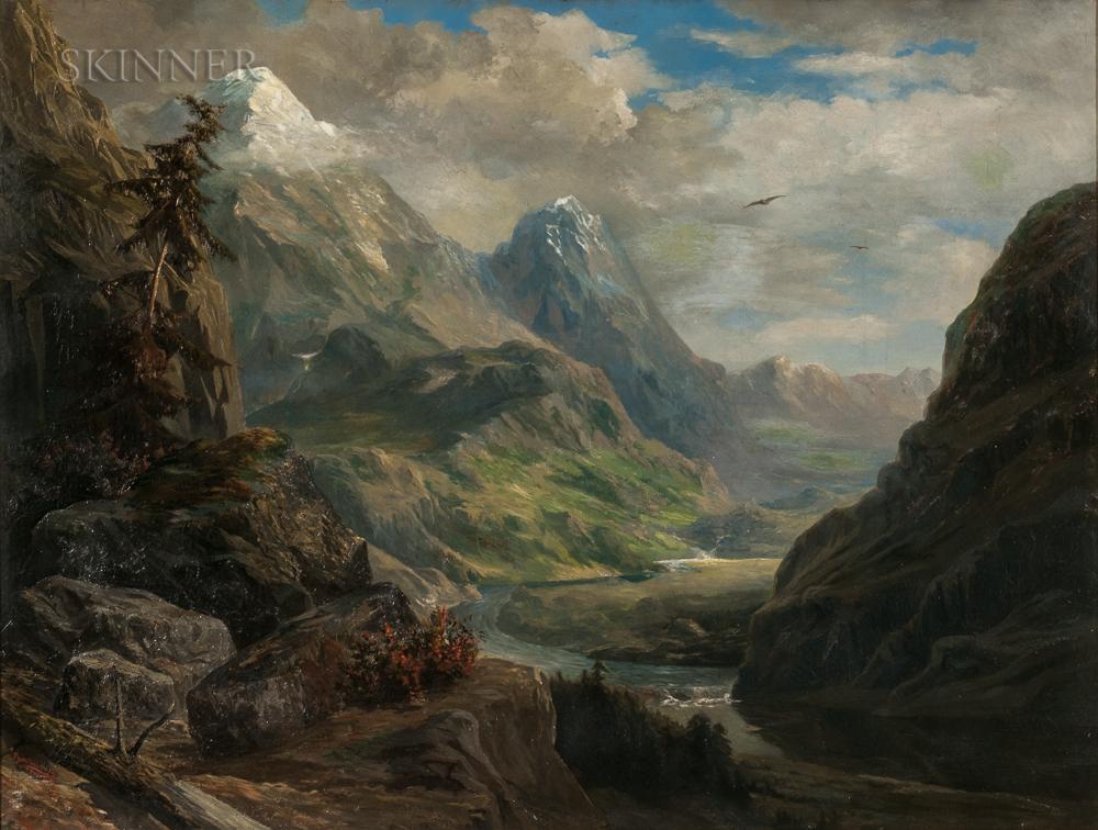 Edmund Henry Osthaus (American, 1858-1928)      Alpine Vista