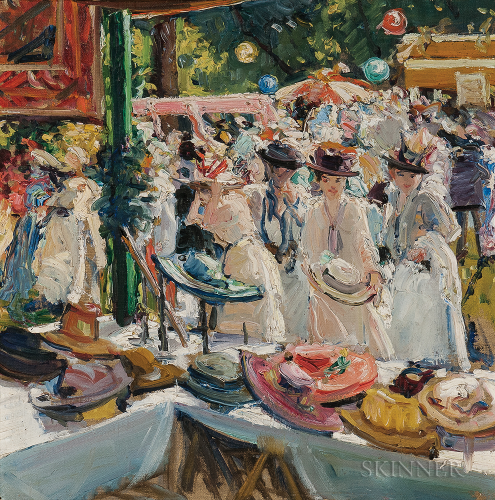 Eben Farrington Comins (American, 1875-1949)      Hat Booth