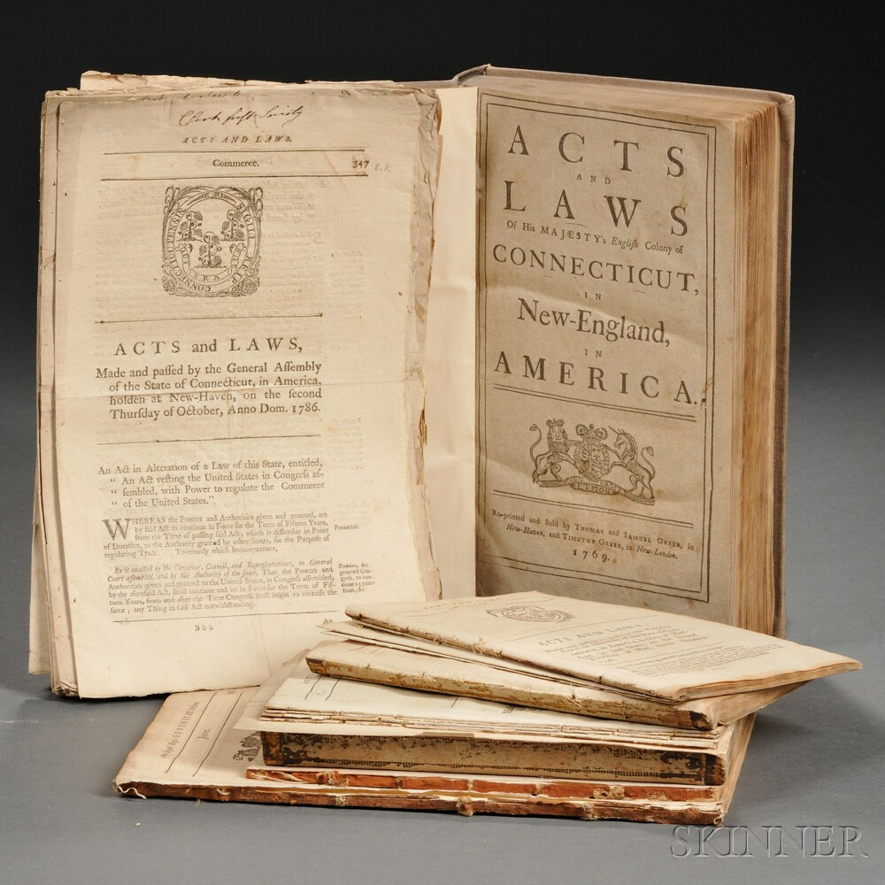 Acts And Laws Of His Majesty Connecticut Majestys English Colony