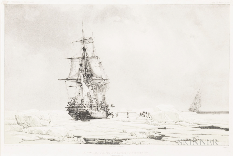 Léon Jean-Baptiste Sabatier (c. 1827-1887), After Louis Le Breton (French, 1818-1866), Les Corvettes Sortant de la Banquise le 9 Fevrie