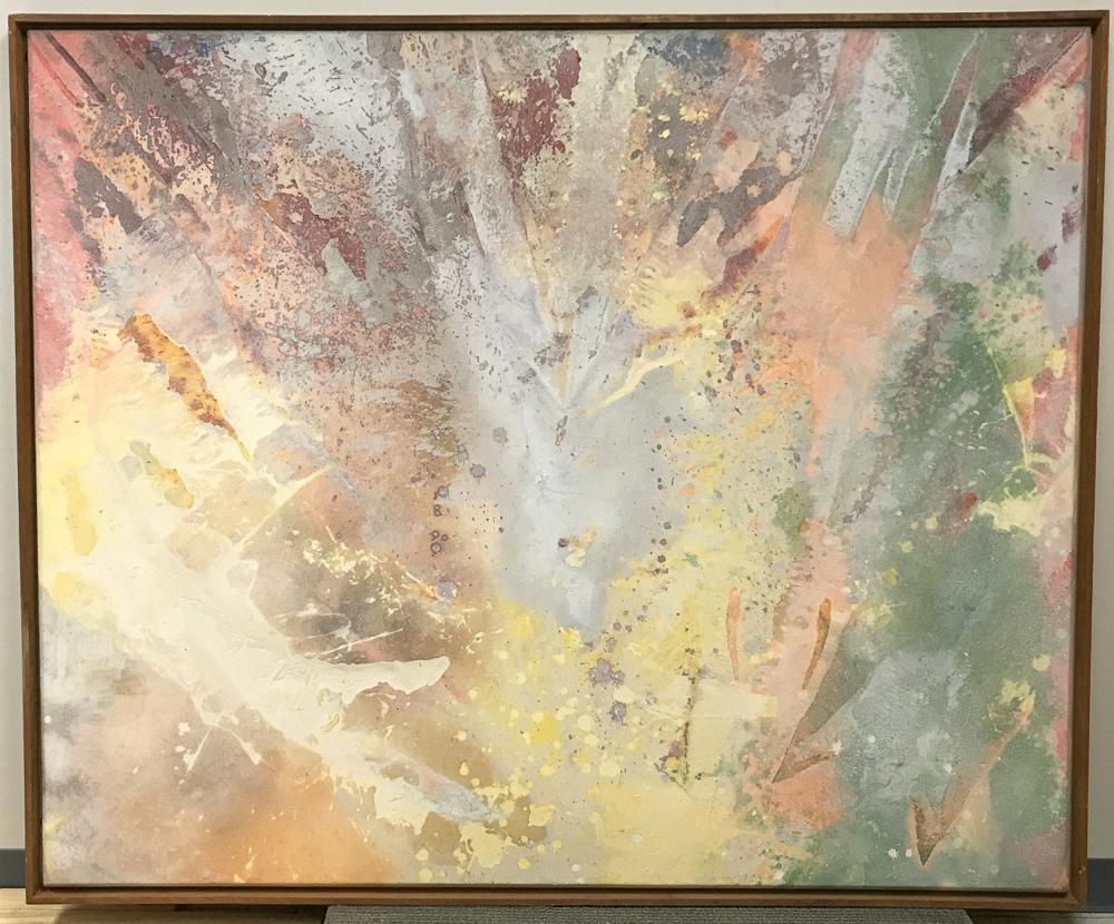 Sam Gilliam (American, b. 1933)      Yellow Fan-White Float