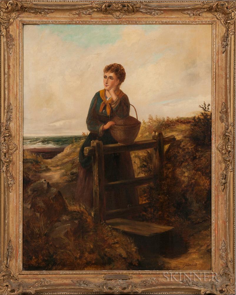 Gertrude Jameson (Jenkins) Barnes (American, 1865-1939)    At the Stile
