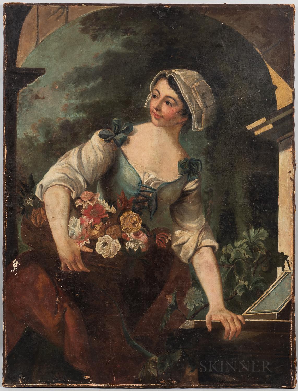British School, 19th Century      The Flower Seller