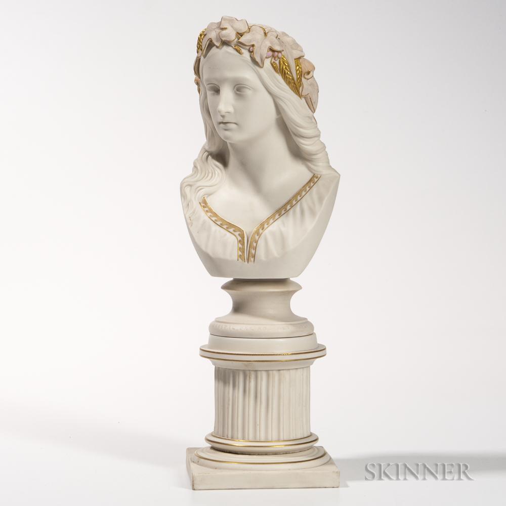 Copeland Parian Bust of Ophelia