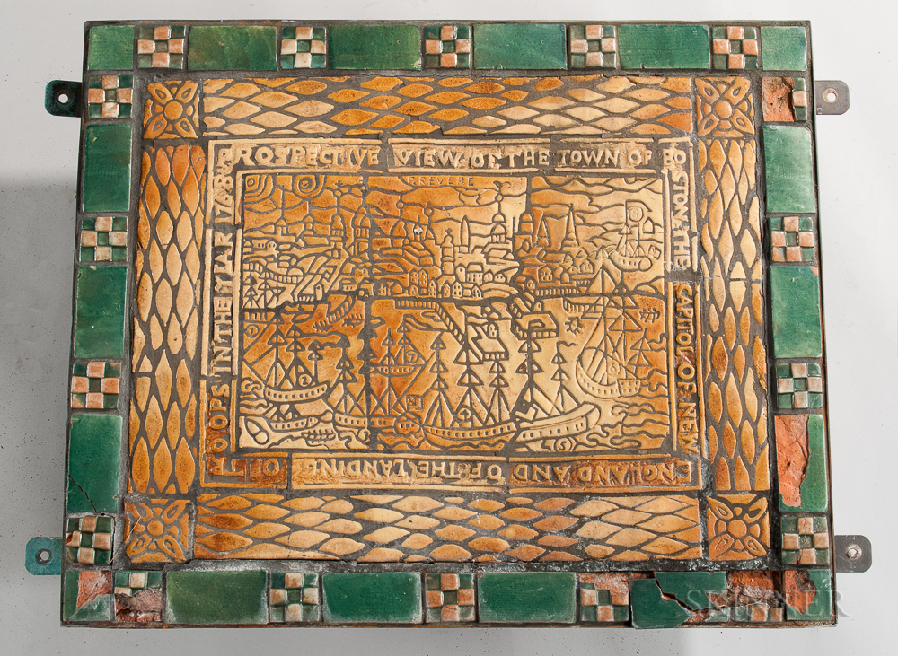 Moravian Pottery & Tile Works Architectural Plaque